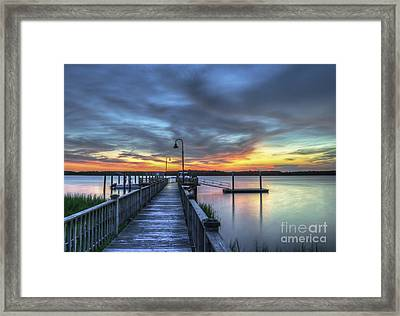 Sunset Over The River Framed Print