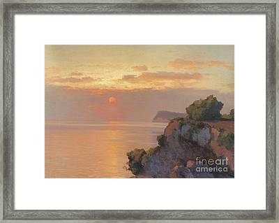 Sunset Over The Sea Framed Print by Celestial Images