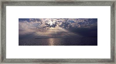 Sunset Over The Sea, Gulf Of Mexico Framed Print