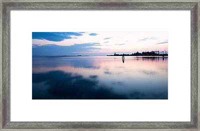 Sunset Over The Sea In Burano Framed Print by Susan Schmitz