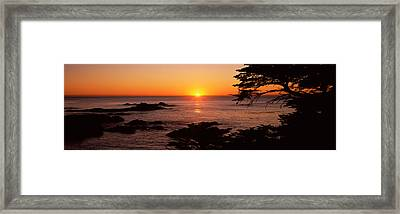 Sunset Over The Sea, Point Lobos State Framed Print by Panoramic Images