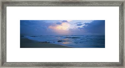Sunset Over The Sea, Porto, Portugal Framed Print by Panoramic Images