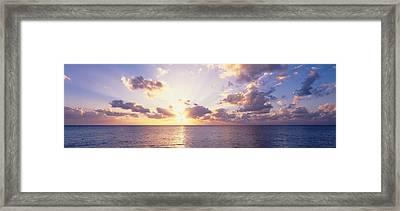 Sunset Over The Sea, Seven Mile Beach Framed Print