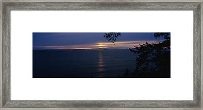 Sunset Over The Sea, Strait Of Juan De Framed Print by Panoramic Images