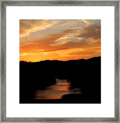 Framed Print featuring the photograph Sunset Over The Shenandoah by Candice Trimble