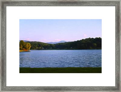 Smoky Mtn Sunset From Lake Junaluska Framed Print