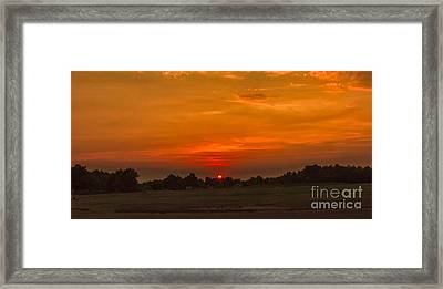 Sunset Over The Sport Complex Framed Print by Robert Bales