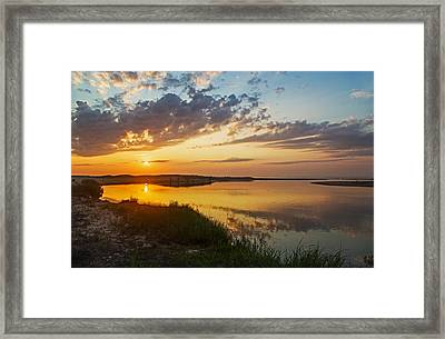 Sunset Over The Sucker River Framed Print