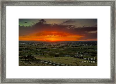 Sunset Over The Valley Framed Print by Robert Bales