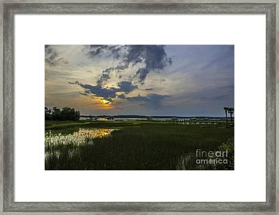 Sunset Over The Wando Framed Print