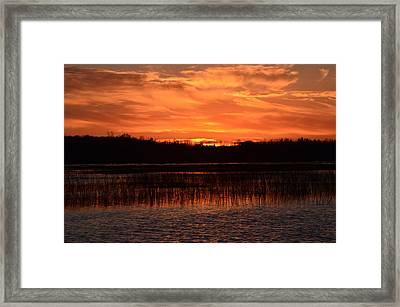 Framed Print featuring the photograph Sunset Over Tiny Marsh by David Porteus