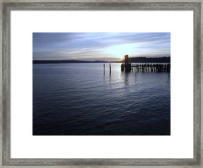 Sunset Over Titlow Framed Print by John Rossman