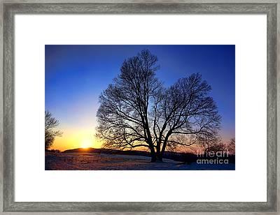 Sunset Over Valley Forge Framed Print
