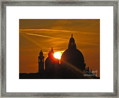 Sunset Over Venice Framed Print