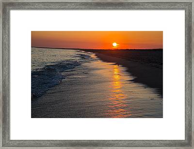 Sunset Over Vineyard Sound Framed Print by Allan Morrison