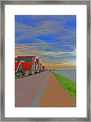 Sunset Over Volendam Framed Print