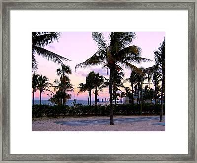 Sunset Over Waikiki Framed Print