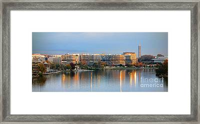 Sunset Over Watergate Framed Print by Olivier Le Queinec