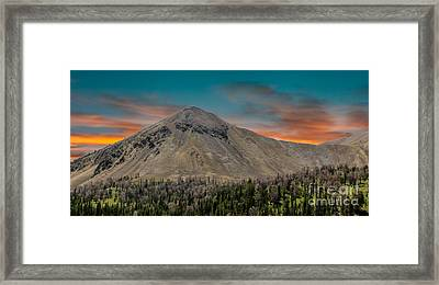 Sunset Over White Knob Mountain Framed Print