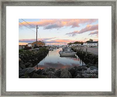Sunset Over Wickford Framed Print