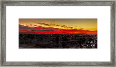 Sunset Over Yuma Framed Print by Robert Bales