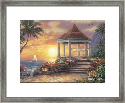 Sunset Overlook Framed Print by Chuck Pinson