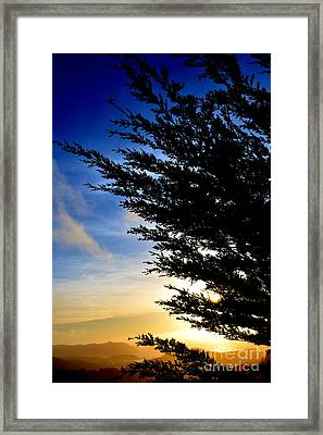 Sunset Overlooking Pacifica Ca Iv Framed Print by Jim Fitzpatrick