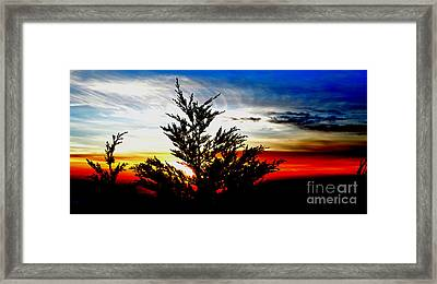 Sunset Overlooking Pacifica Ca V Framed Print by Jim Fitzpatrick