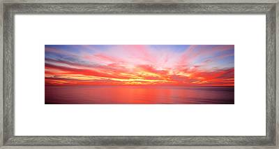 Sunset Pacific Ocean, California, Usa Framed Print by Panoramic Images