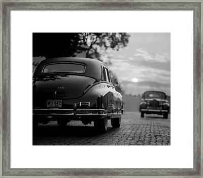 Sunset Packards Framed Print