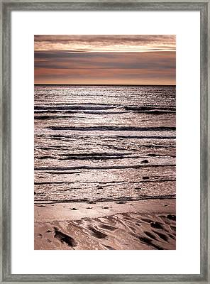 Sunset Ocean Framed Print by Roxy Hurtubise