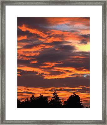 Sunset Framed Print by Pamela Walton