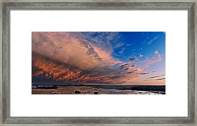 Sunset Panorama Framed Print
