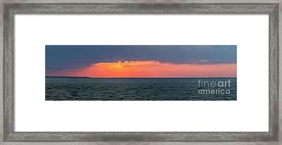 Sunset Panorama Over Ocean Framed Print