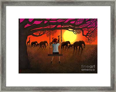 Sunset Parade Framed Print