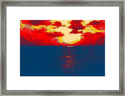 Sunset Paradise Framed Print by Peter Waters
