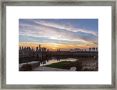 Sunset Party Framed Print