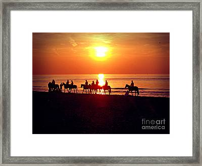 Sunset Past Time Framed Print