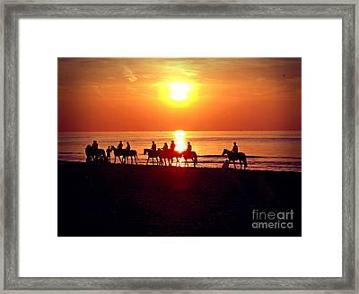 Sunset Past Time Framed Print by Nina Ficur Feenan