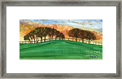 Sunset Pasture Framed Print