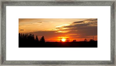 Sunset  Framed Print by Paulina Szajek