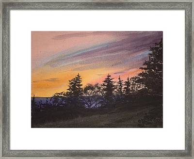 Sunset Framed Print by Peggy Poppe