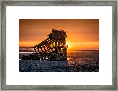 Sunset Peter Iredale Framed Print by James Hammond
