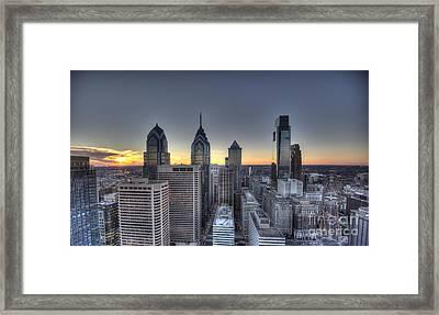 Sunset Philadelphia Framed Print