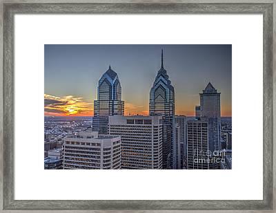 Sunset Philly Framed Print
