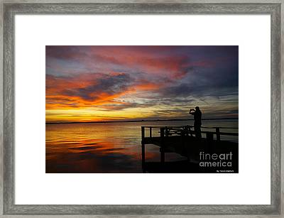 Framed Print featuring the photograph Sunset Photographer by Tannis  Baldwin