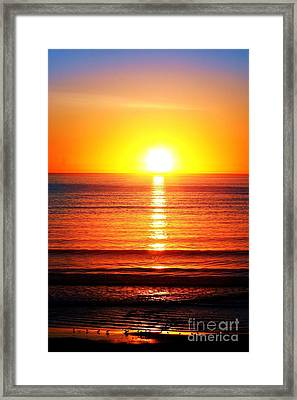 Sunset Pipers Framed Print