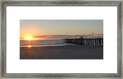 Sunset Pismo Beach Pier Framed Print