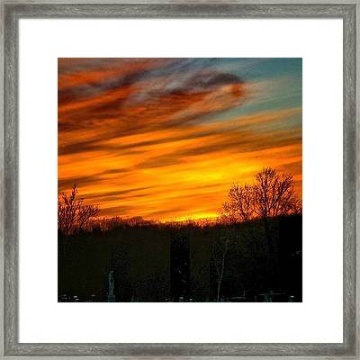 Sunset Framed Print by Charlie Cliques