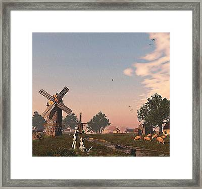Sunset Play Framed Print